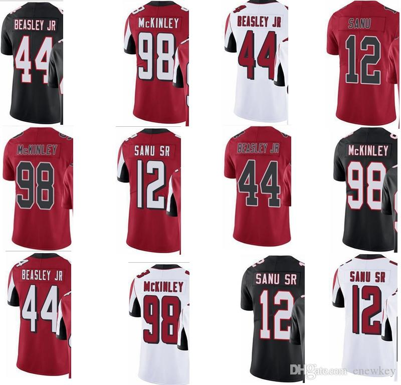 wholesale dealer 7fd9b 0b06e Falcon # 12 Mohamed Sanu # 44 Vic Beasley # 98 Takkarist McKinley Hombres  Mujeres Juvenil Vapor Intocable Color Rush Custom Elite Football Jersey