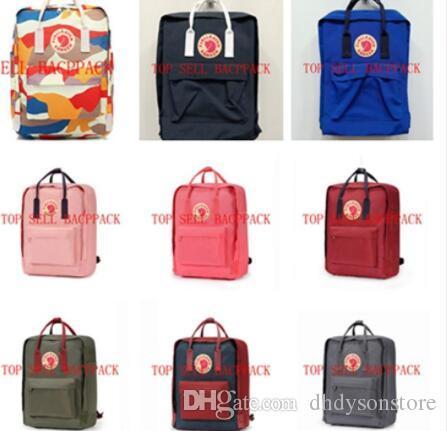 20L//16L//7L Fjallraven Kanken Canvas Backpack Sport Arrival Handbag Mini//Classic