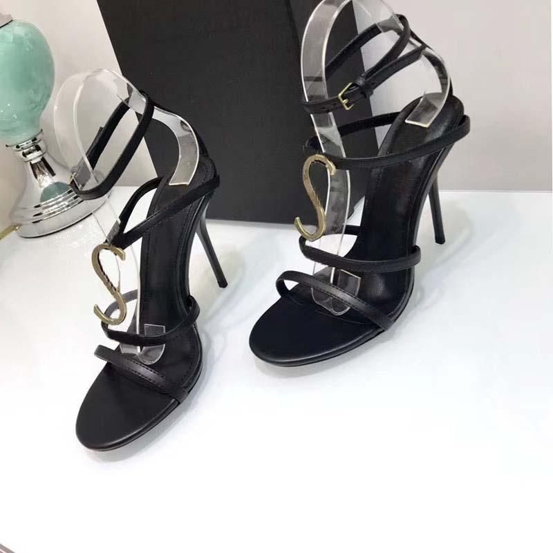 f2b343df8 High Heeled Sandals Velvet Bread Head Women S Shoes Word Buckle Large Size  Brand Design Party Black Pointed Sexy Dance Ball Hollow Dansko Sandals Tall  ...
