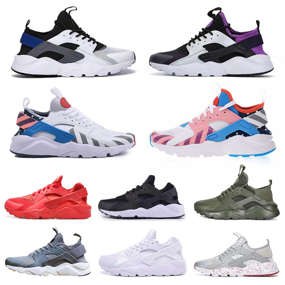 2020 Cheap Huarache 4.0 1.0 Uomo Donna Running Shoes Hurache triple Bianco e nero Huaraches donne Mens Trainer Huraches Sport Sneakers 36-45