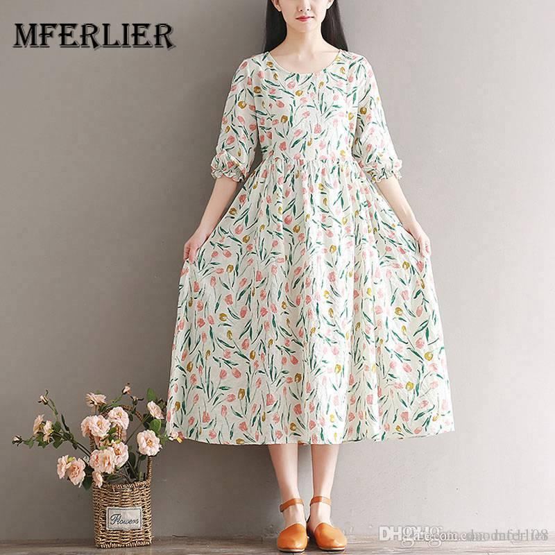 e7e9e2bac646 Mferlier Mori Girl Summer Refreshing Floral Dress O Neck Half Flare Sleeve  Bow High Waist Women Artsy Retro Dress Ladies Black Dress Summer Lace  Dresses ...