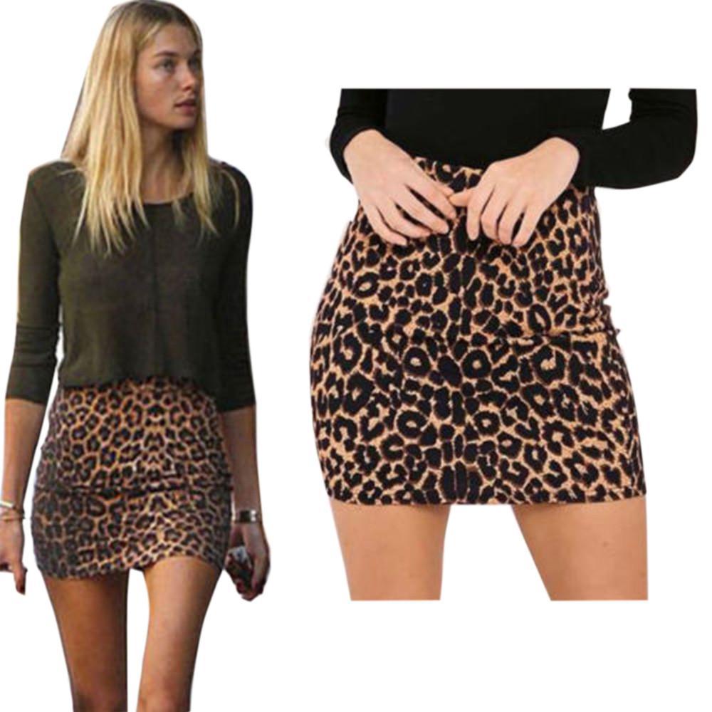 1660952911 Compre Faldas De Mujer Estampado De Leopardo Tendencia Fiesta De Cintura  Alta Sexy Mini Falda De Gran Tamaño Falda De Cintura Alta Moda Ropa De ...