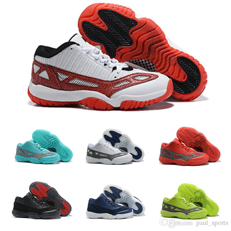 aa6a289004873c 2019 New Jumpman XI 11 Low IE Highlighter Basketball Shoes for Top Quality  11s Black White Blue Red Mens Sports Sneakers Size 40-46 11 11s Basketball  Shoes ...