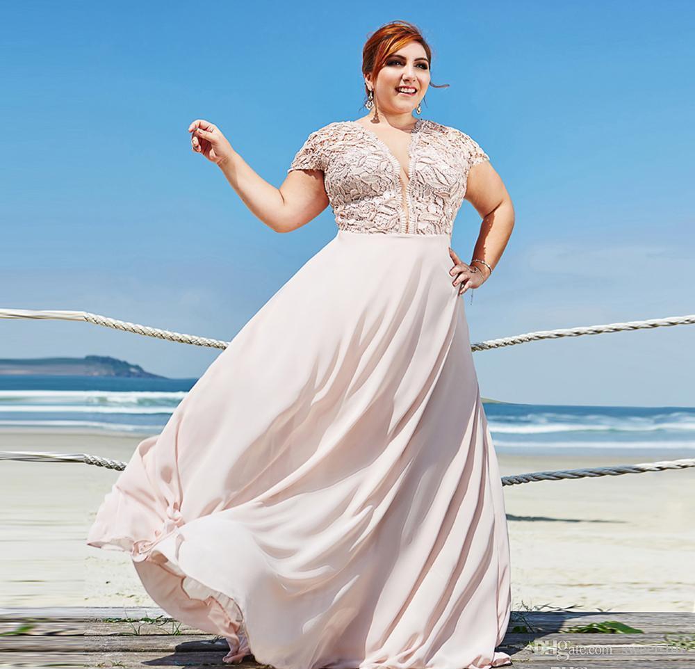 Discount Elegant Light Pink A Line Wedding Chiffon Party Dresses ...