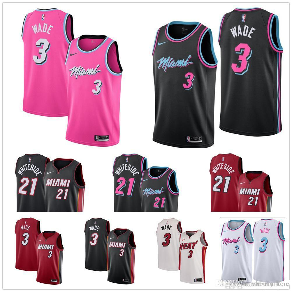 new product d1dd3 285ce 2019 Cheap Heat jersey THE CITY EDITION Miami dwayne wade jersey 3 Dwyane  Wade 7 Goran Dragic 21 Hassan Whiteside basketball jerseys
