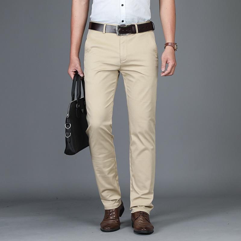 Schwarz 42 Khaki Herren Männer Hosen Hose 40 Casual Gerade Größe Business Männliche Große Basic Baumwolle Ganzkörperansicht Classic exdBoC