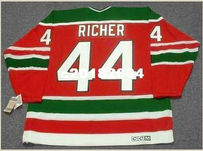 super popular f05cc 8c64e Men #44 STEPHANE RICHER New Jersey Devils 1991 CCM Vintage RETRO Home  Hockey Jersey or custom any name or number retro Jersey
