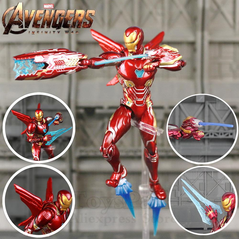 17cm Iron Man Tony Stark with Tony PVC Action Figure Collectible Toy Model 2018
