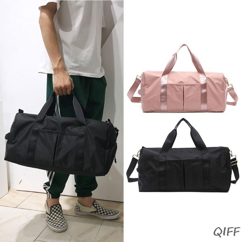 edbe5440f4aa Travel Sports Fitness Yoga Bag Dry Wet Handbag Shoulder Bags with Pocket  and Shoes Compartment for Women Men