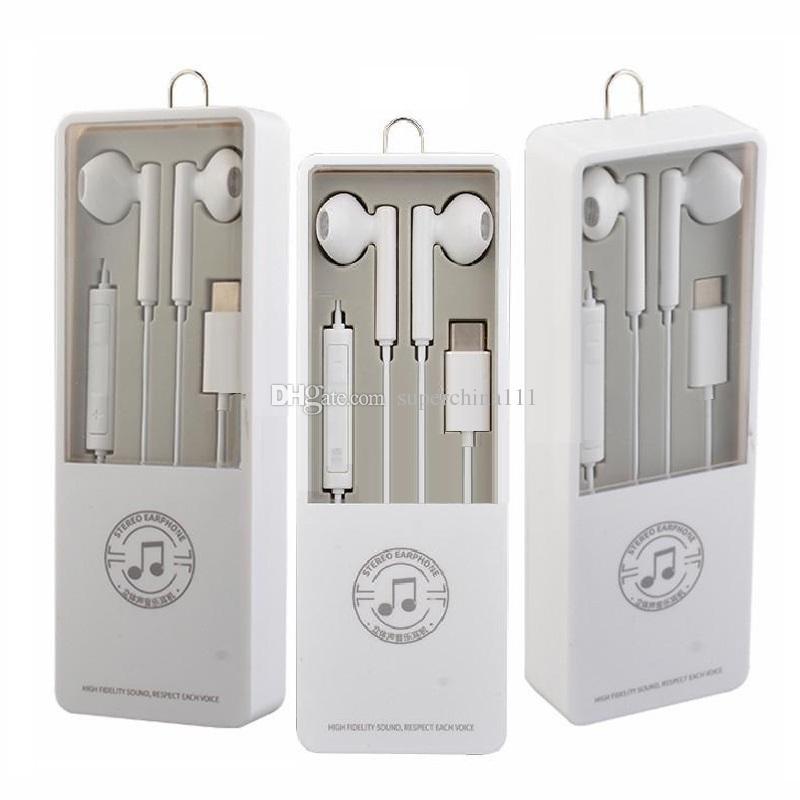 Type c Earphone Bluetooth Inner Earphones Mic Volume Control headphone  earbuds for iphone 5 6 7 8 x samsung xiaomi android phone