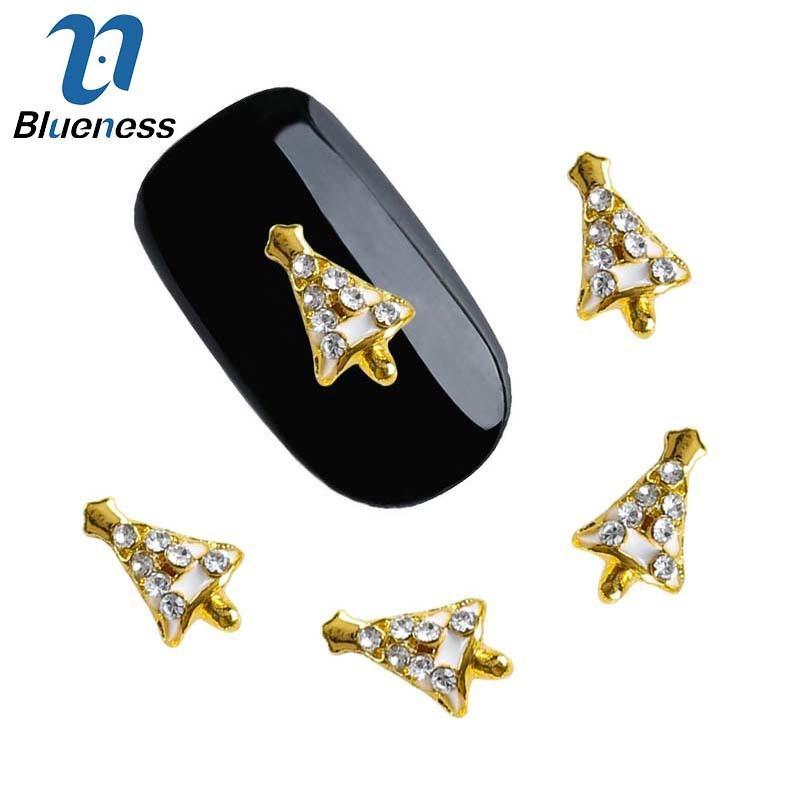 Blueness Rose Gold Christmas Tree Design 3d Crystal Decoration