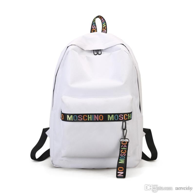 4fcf1cd6b87a Best Selling Mos Designer Backpack For Women Mens Causal Back Pack Made Of  Canvas Bag Teenagers School College Backpack Drop Shipping Travel Backpacks  Small ...