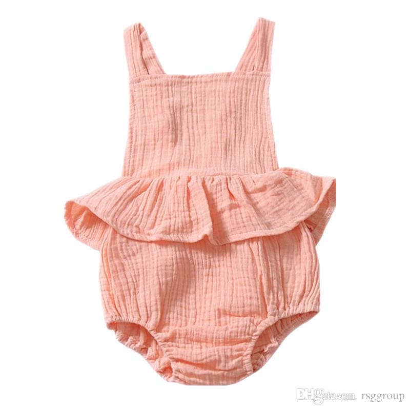 fce1ea3bc51c INS White Baby Girls Sleeveless Rompers Dresses Must-have Infant ...