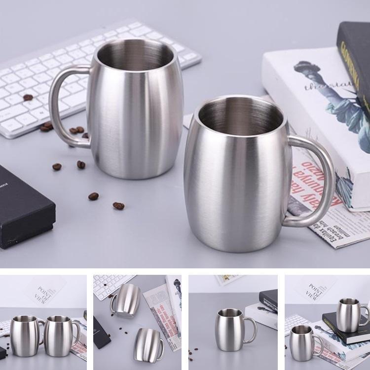 500 ml New portable creative double-layer 304 stainless steel beer mug beer mug household water cup Drinkware T8I030