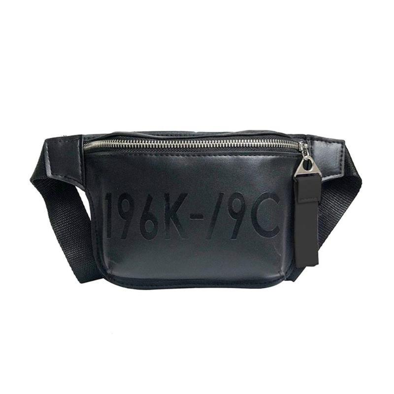 10253f9c2bc Street Women PU Leather Waist Chest Packs Handbags Teen Girl Fanny Pack  Belt Shoulder Messenger Bag Lady Black Zipper Pouch Tote
