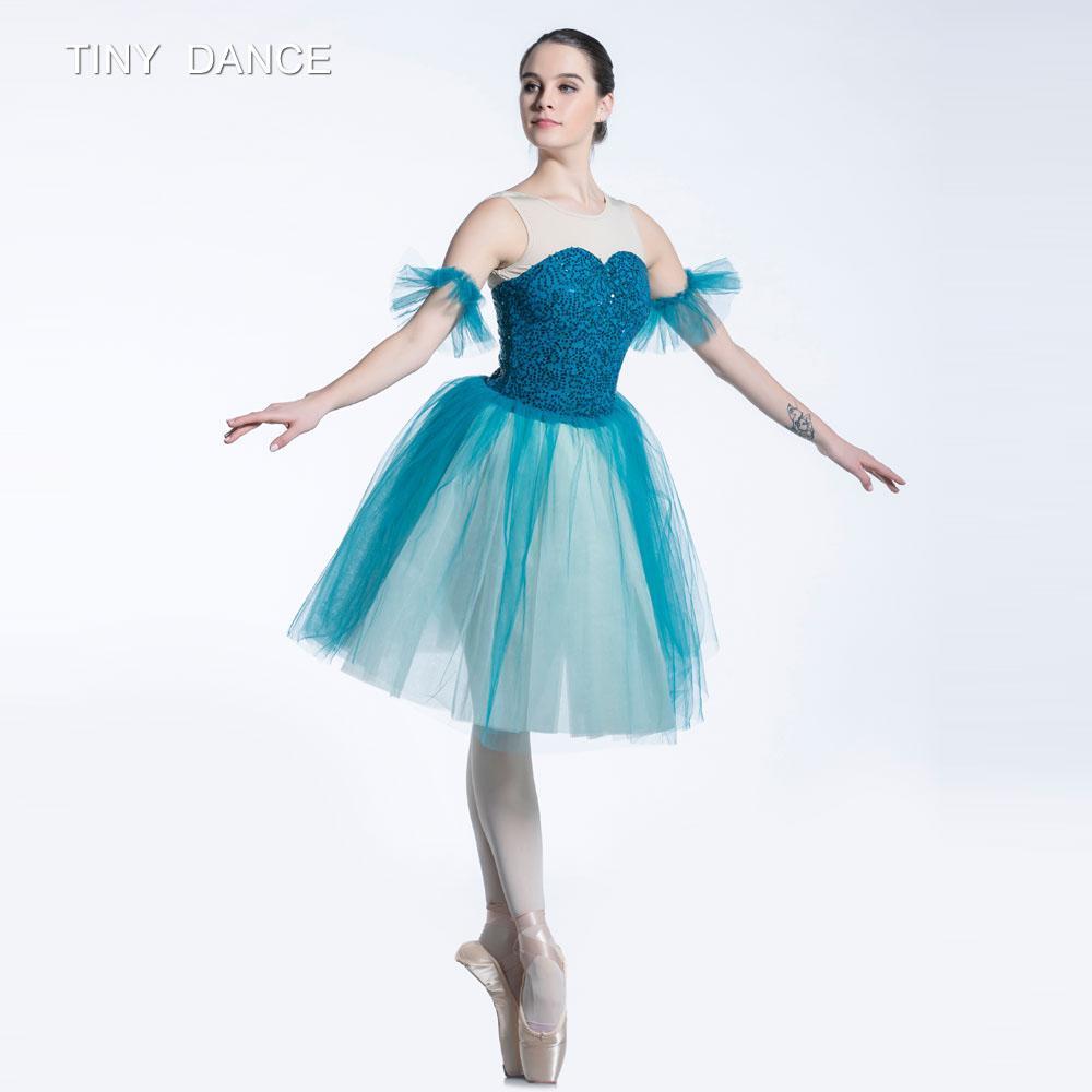 c8098c61f Corpiño de tutú con lentejuelas y malla de danza de ballet para niños y  adultos con capas de vestido de bailarina con bailarina de tutú suave de ...