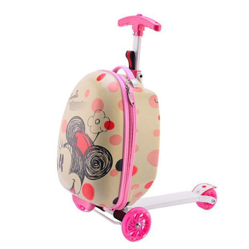 85185c711feb Kids scooter suitcase storage trolley luggage skateboard for children  carry-on rolling luggage ride on trolley case With wheels