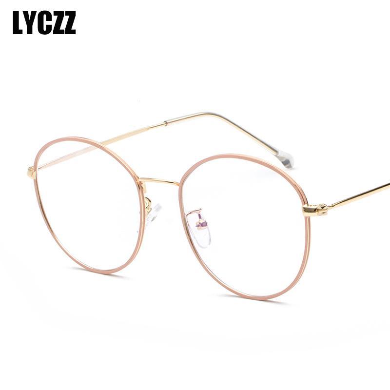 Women's Sunglasses 2019 Unisex Vintage Pilot Glasses Frame Women Men Metal Frame Retro Optical Clear Lens Eye Glasses Frames Eyewear Lentes Mujer