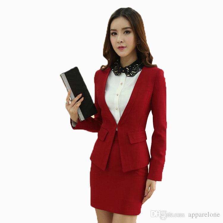 68b642d80 Nuevos trajes femeninos para damas Ropa de oficina Ropa de trabajo Faldas y  faldas Mujeres de negocios Uniformes Conjunto de ropa