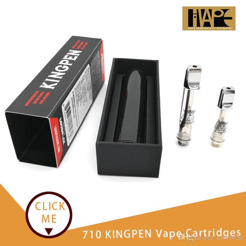 710 KINGPEN Vape Cartridges King Pen 510Thread Vaporizer 0 5 1 0ml Thick  Oil vape Ceramic Coils e cig KP Flavor Stickers Tank