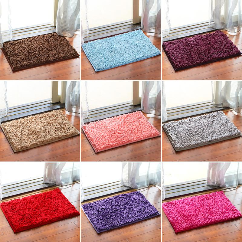 Strong Absorbent Non-slip Kitchen Rug and Carpet Super Soft Chenille Shaggy  Latex Backing Solid Home Decorator Mats