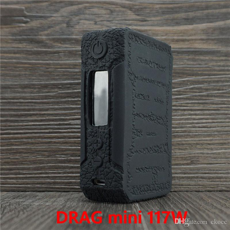 VOOPOO DRAG mini 117W silicone case Anti-Slip 13 Colors Protective Silicone  Cover for DRAG mini custom support smoking accessories