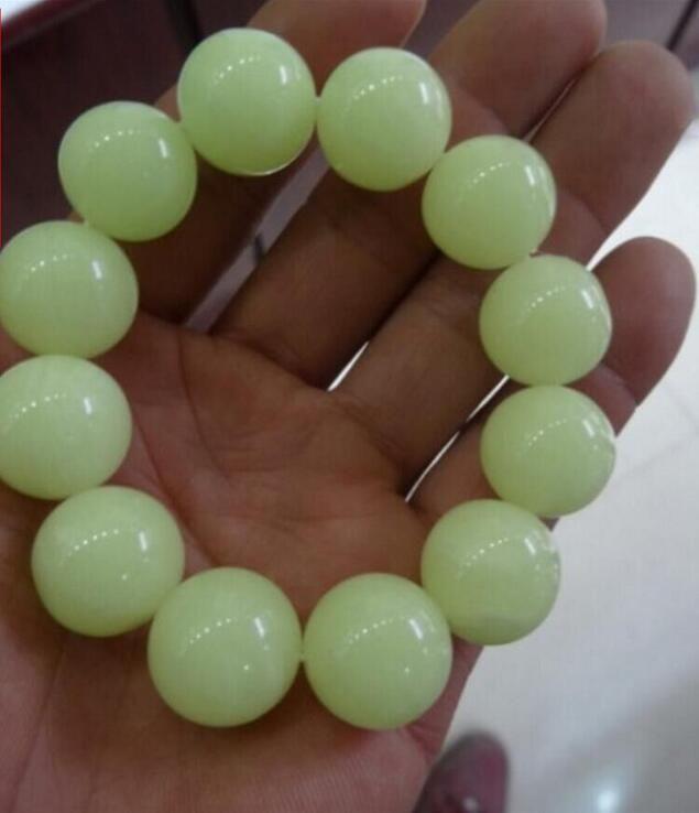 Pierre Nuit Original Lumineux Gros Perle 12mm Bracelet Fluorescente E2WYeD9IbH