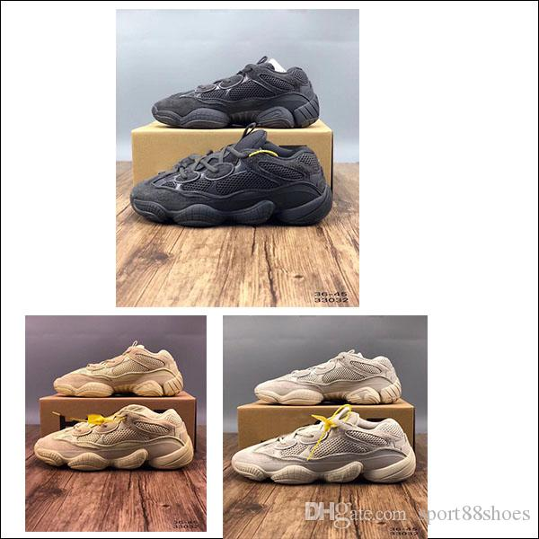 5f764b38768a6 Compre 500 Blush A Estrenar Salt Super Moon Yellow Utility Negro Mujer  Hombre Zapatillas Zapatillas Sport Kanye West 500s Zapatos De Diseñador Con  Estuche A ...