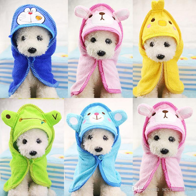 Cute Pet Dog Towel Soft Drying Bath Pet Towel For Dog Cat Hoodies Puppy Super Absorbent Bathrobes Cleaning Necessary supply
