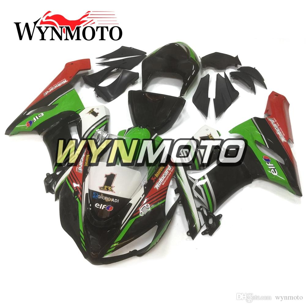 Green Black Red Motorcycle Full Fairings For Kawasaki ZX6R 05 06 ZX-6R Ninja 2005 2006 Injection ABS Plastic Motorcycles Bodywork Carenes