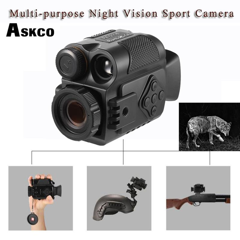 Askco Mini Multifunction IR Digital Infrared Monocular Day Night Vision Telescope Night Vision Scope For Camera Video Hunting
