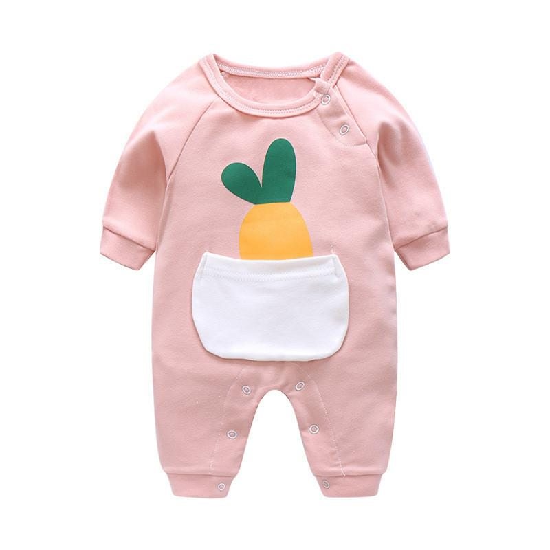 cf427810a87d6 BibiCola baby rompers new 2018 autumn spring newborn girls cotton jumpsuit  rompers infant toddler long sleeve rompers clothes