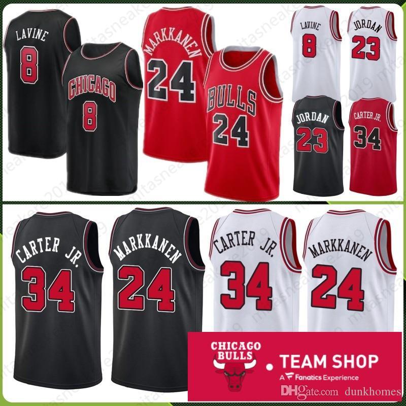 e0c2cfec9832 Chicago 23 MJ Jerseys Markkanen 8 Zach 24 Lauri LaVine 34 Wendell ...