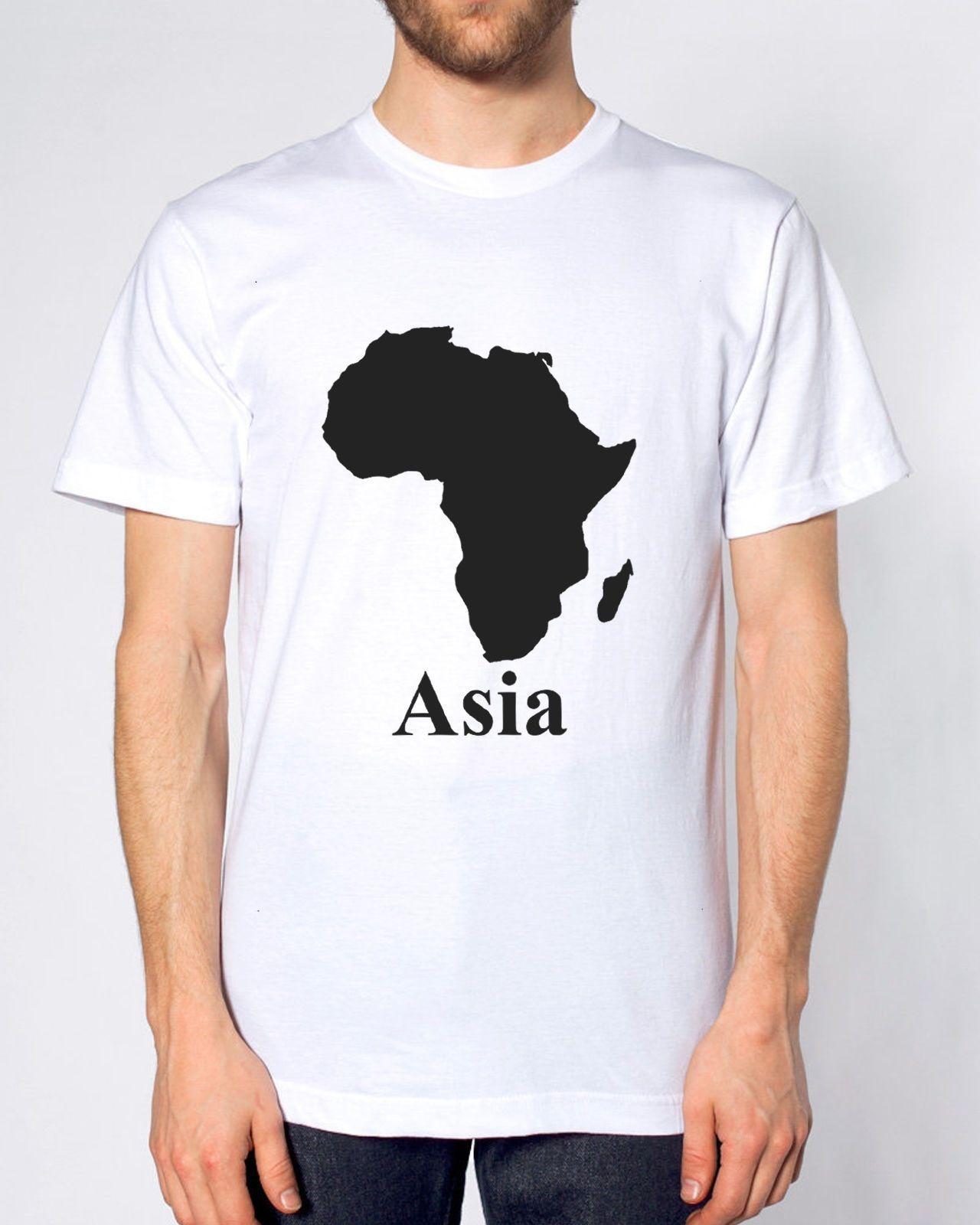 9792f98c9 Compre África Asia Camiseta Divertida Parodia Mapa Hombres Mujeres Niños  Fresco Casual Orgullo Camiseta Hombres Unisex Nueva Moda Camiseta Divertida  Tops A ...