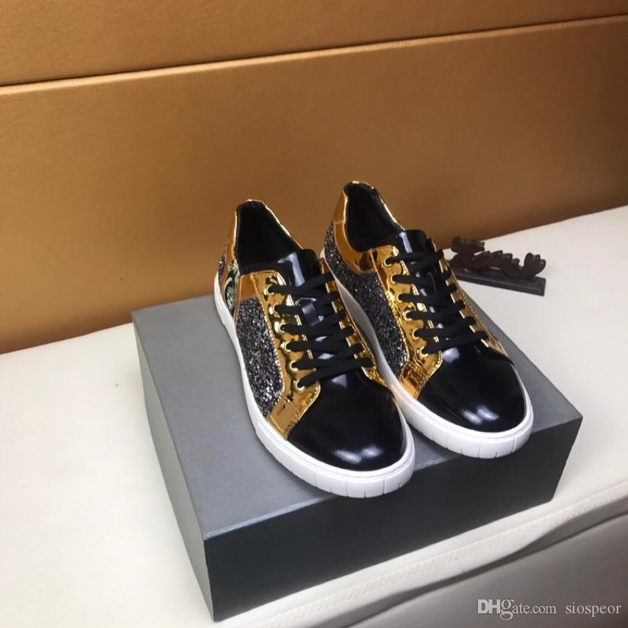2019a custom limited edition leather men's casual shoes, trend wild fashion shoes, DHL with a full set of shoe box delivery, yards 38-45