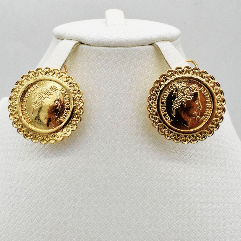 Parure de bijoux de mariée Nigéria Dubaï Dubai couleur or perles africaines bijoux Collier Bracelet Boucle d'oreille Bague bijoux de mariage