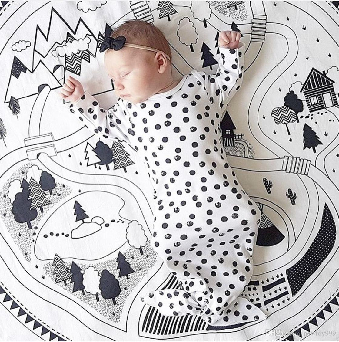 New INS Bambini Soft Round Stuoie di gioco 2016 Kids Cotton Crawling Blanket Gioco Game Indoor Outdoor Mat Baby Room Decoration Gioco rotondo Tappeto
