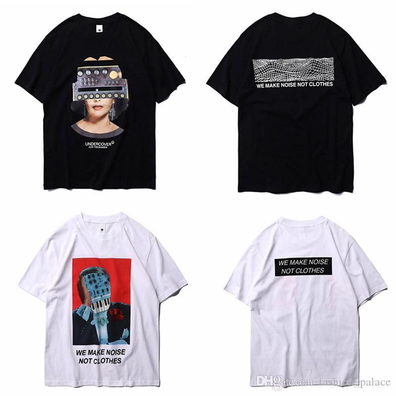 0877e4e559d9 Undercover T Shirt Black White Short Sleeve O Neck 100% Cotton Tees Couples  Lovers Hip Hop Graphic Tees Club Tops LLWF0529 Crazy T Shirt Sayings Tee  Shirt ...