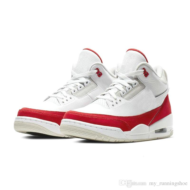 212a1a4ae189f5 2019 2019 Newest Air JTH 3 Tinker CJ0939 100 White Red University Katrina  Men Basketball Shoes 3S Sports Sneakers With Box From My runningshoe