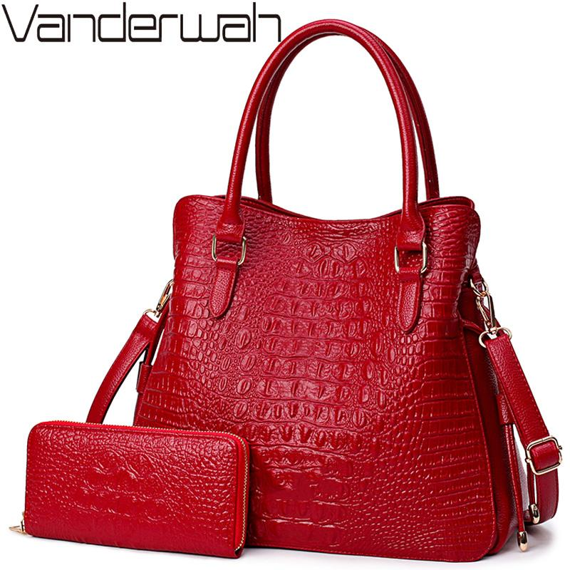 ac36e80ef582 Crocodile Leather Purses And Handbags Women Shoulder Bags Women Messenger  Bags Ladies Casual Tote Bags Sac A Main Femme Satchel Handbags Fashion Bags  From ...