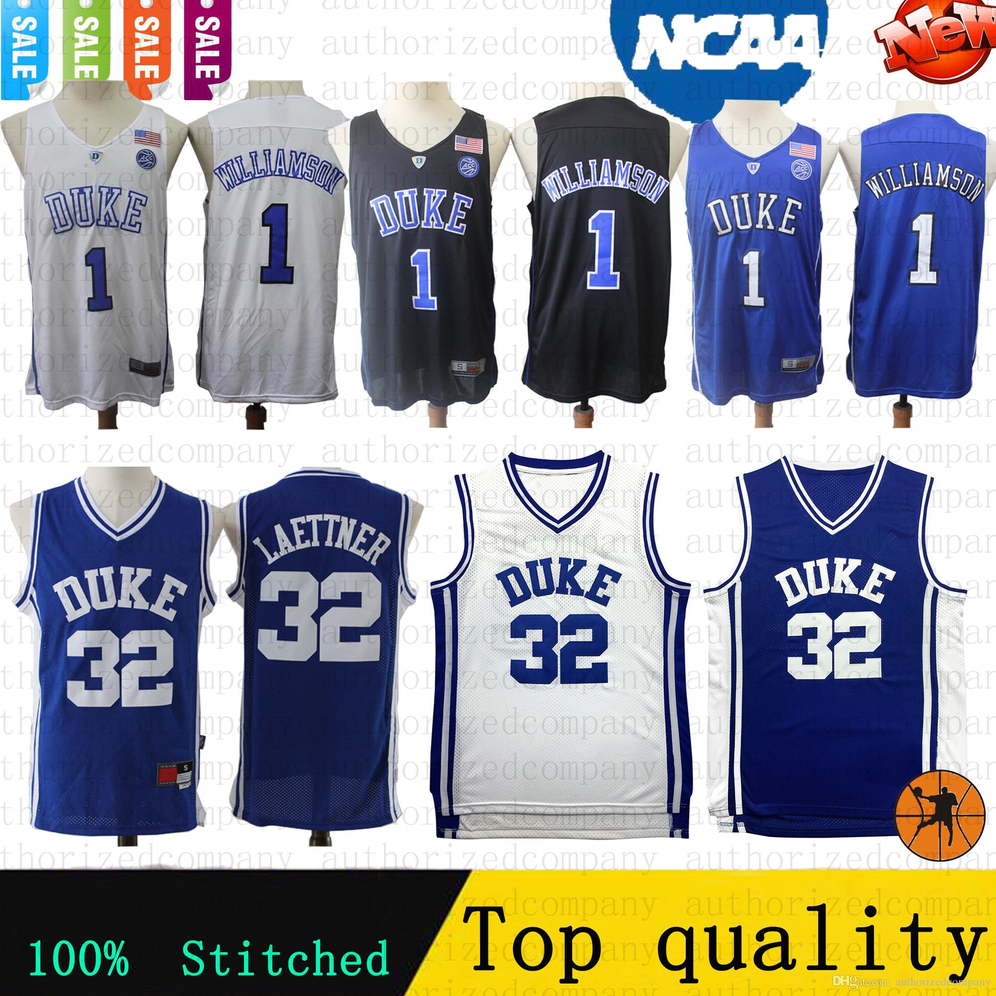 a2ed7907e 2019 2019 New NCAA Retro Basketball Jersey 1 Zion Williamson 32 Christian  Donald Laettner Duke Blue Devils College Jerseys 100% Stitched From ...
