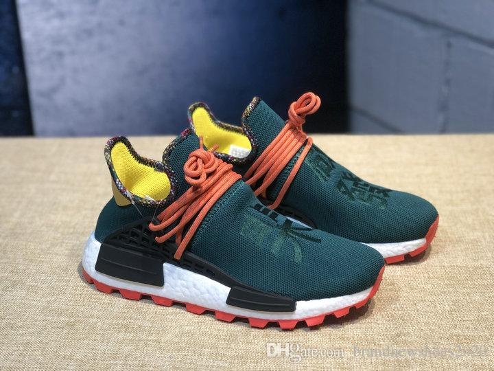 new style 80c32 6edc6 2019 Newest Human race Hu Inspiration Pack running shoes real basf bottom  top quality Pharrell Williams trainer Sneakers free shipping