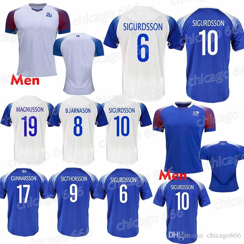 fef210f2e 2019 2018 World Cup Iceland Soccer Jersey 6 GUDMUNDSS 9 SIGTHÓRSSO ...