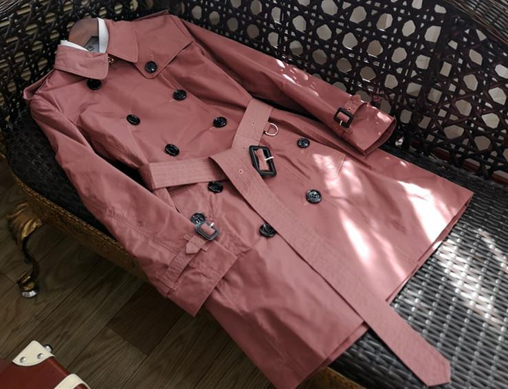 Women Trench 2019 Spring Autumn Female High Quality British Medium Length Double Breasted Epaulet Waterproof Trench New