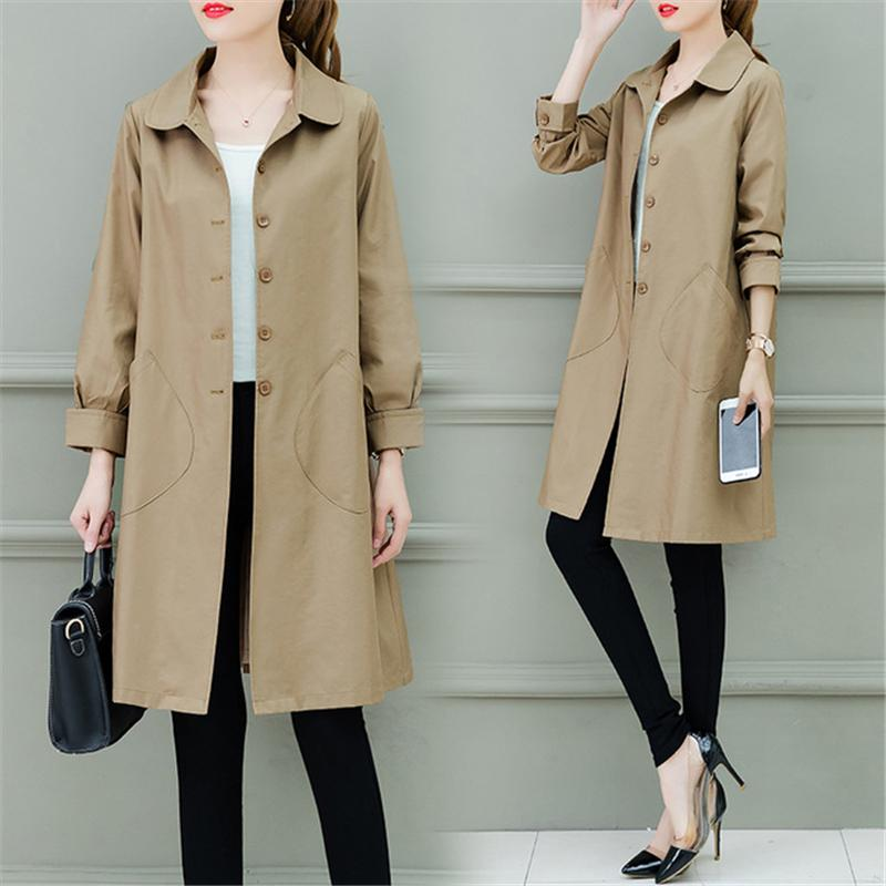 1d2123b77 2019 Women Trench Coat 2019 Spring Autumn New Fashion Loose Long ...