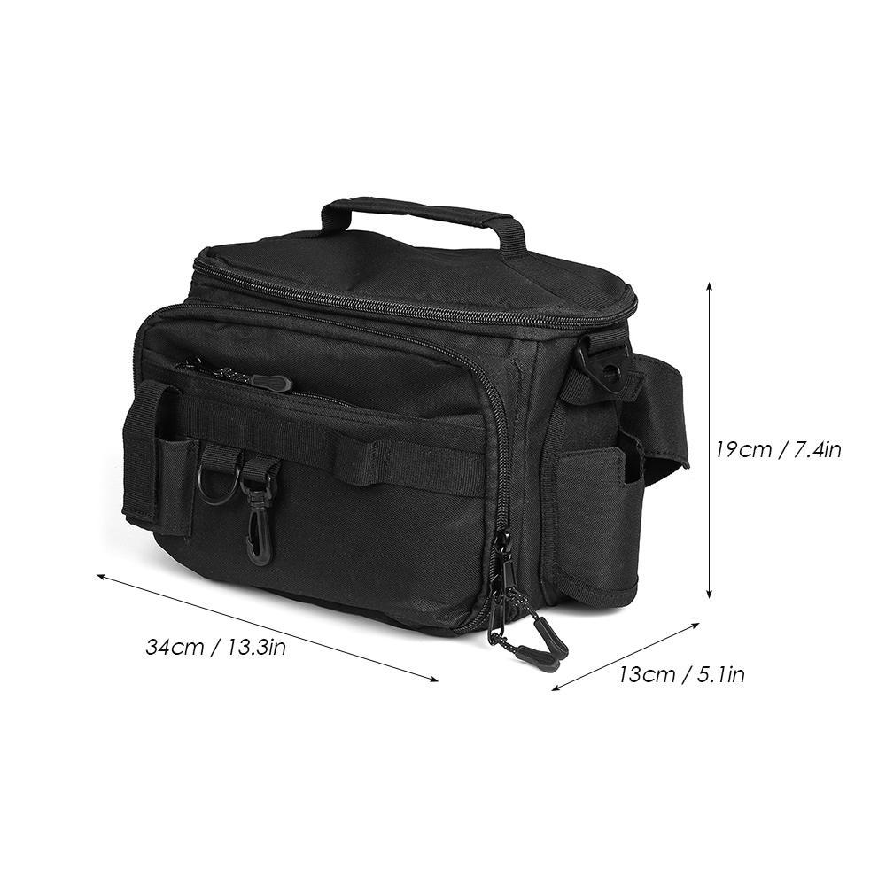 Security & Protection Multifunctional Fishing Bag Fishing Tackle Reel Lure Storage Shoulder Bag Square Fishing Reel Accessories Fishing Gear Bag