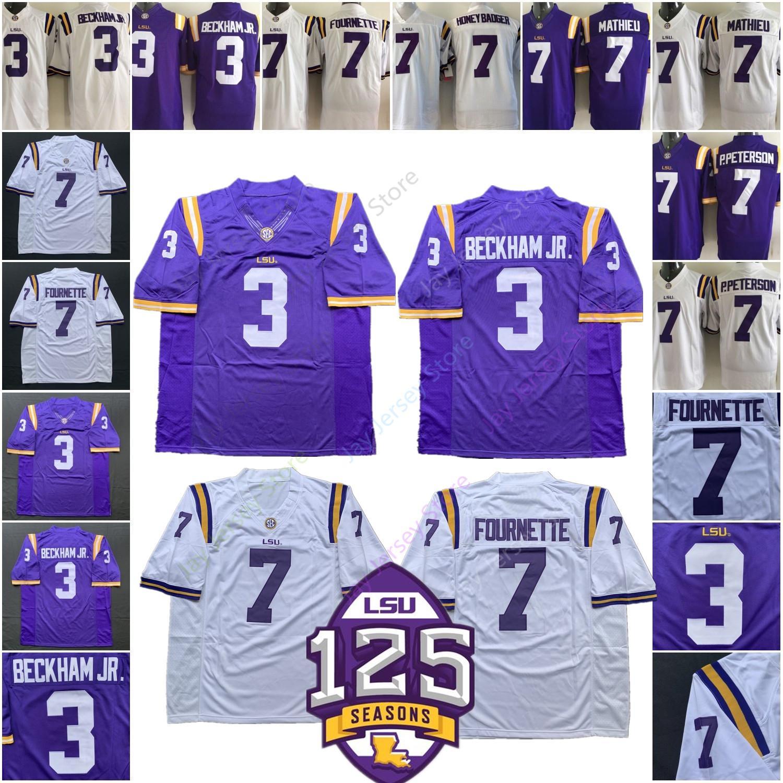 best loved e8061 ef647 College NCAA LSU Tigers Football Jersey 3 Odell Beckham Jr 7 HONEY BADGER  Leonard Fournette Patrick Peterson Tyrann Mathieu