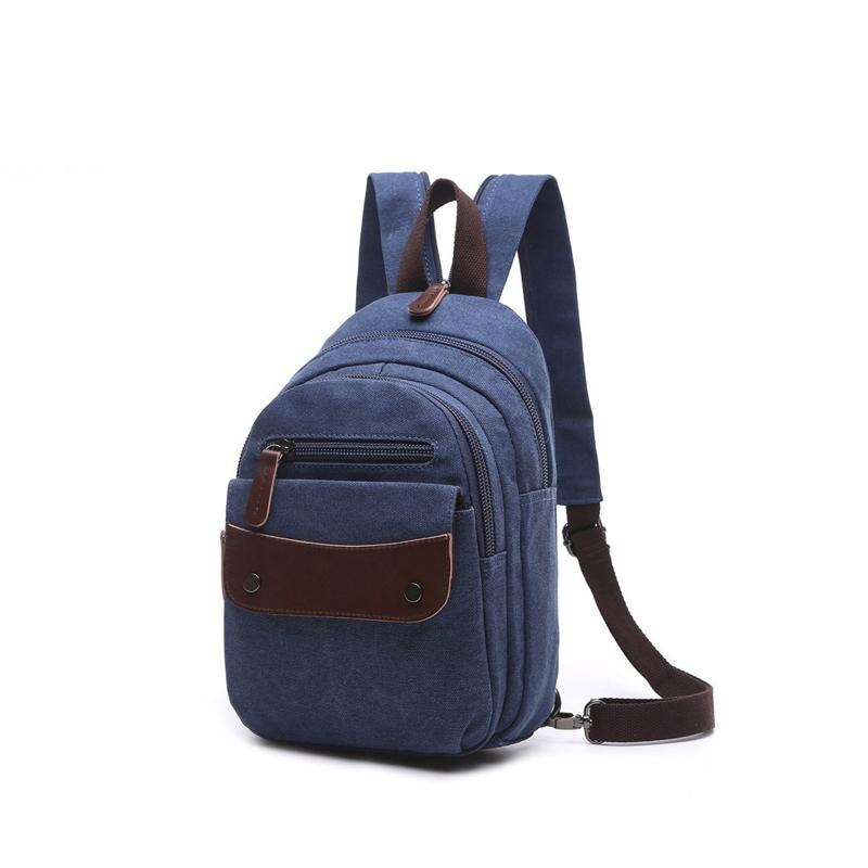 ca5b55843b2e New 2019 Fashion Men Small Backpack Canvas Water Proof School Bags For Male  Man Backpacks Military Shoulder Bag Bolsas An1155 Drawstring Backpack Black  ...