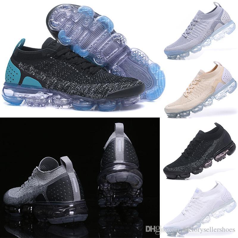 c26b480ed7d Compre 2018 Nike Air VaporMax Flyknit 2.0 Sin Caja 2018 NUEVOS Zapatos De  Diseño Rainbow Running Shoes Para Entrenadores De Hombres Zapatos Casual  Para ...