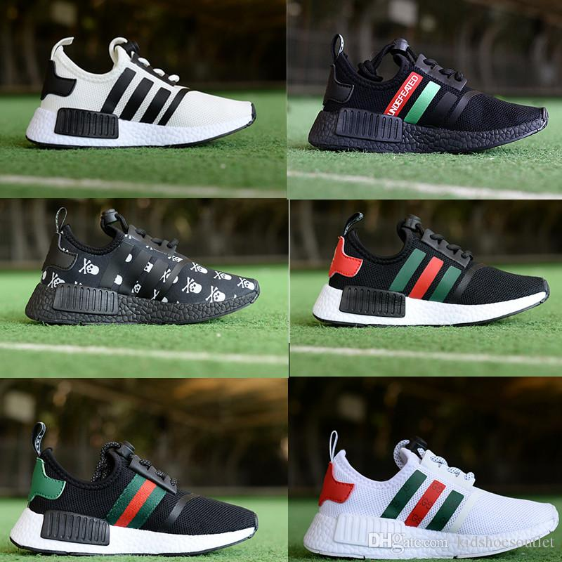 NMD R1 Kids Running shoes PK TRI Boys Girls Child Children Infant Mesh Sneakers boy girl Pupil Trainers